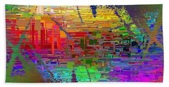 Abstract Cubed 25 Beach Towel