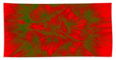 Beach Towel featuring the photograph Abstract Dandelion Bloom by Mae Wertz