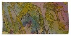 Abstract Doodle Beach Sheet