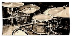 Abstract Drum Set Beach Towel by J Vincent Scarpace