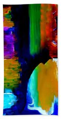 Beach Towel featuring the painting Abstract Du Colour by Lisa Kaiser