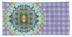 Beach Sheet featuring the digital art Abstract Floral by Susan Leggett