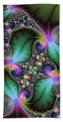 Abstract Fractal Art With Jewel Colors Beach Towel