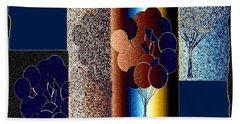 Abstract Fusion 191 Beach Towel