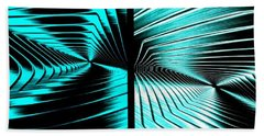 Abstract Fusion 254 Beach Towel