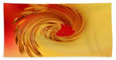 Abstract Swirl Hibiscus Flower Beach Towel by Debbie Oppermann