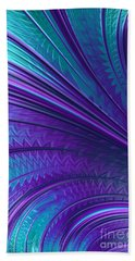 Abstract In Blue And Purple Beach Towel