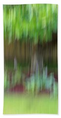 Abstract In Green Beach Towel