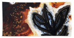 Abstract Landscape Art - New Growth - By Sharon Cummings Beach Towel