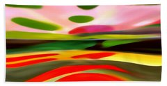 Abstract Landscape Of Happiness Beach Towel