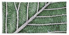 Abstract Leaf Art Beach Sheet