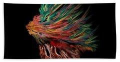 Abstract Lion's Head Beach Towel by Klara Acel