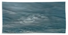 Abstract Of The Clouds Beach Towel by Gary Slawsky