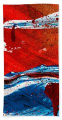 Abstract Original Artwork One Hundred Phoenixes Untitled Number Three Beach Sheet