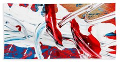 Abstract Original Artwork One Hundred Phoenixes Untitled Number Two Beach Towel