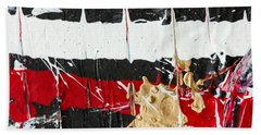 Abstract Original Painting Number Five Beach Towel