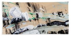 Abstract Original Painting Number Seven  Beach Sheet