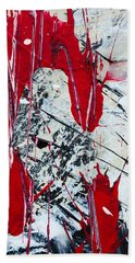 Abstract Original Painting Untitled Nine Beach Towel