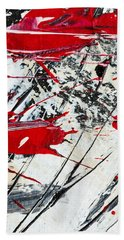 Abstract Original Painting Untitled Ten Beach Towel