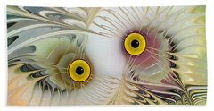 Abstract Owl Beach Towel by Klara Acel