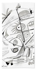 Abstract Pen Drawing Sixty-seven Beach Sheet