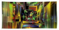Abstract Perspective E3 Beach Towel