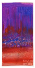 Abstract Purple And City Lights Beach Towel