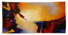 Abstract Red Blue Yellow Beach Towel