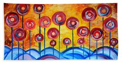 Abstract Red Symphony Beach Towel