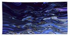 Abstract Reflections - Digital Art #2 Beach Sheet