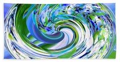 Abstract Reflections Digital Art #3 Beach Towel