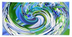 Abstract Reflections Digital Art #3 Beach Sheet