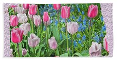 Abstract Spring Floral Fine Art Prints Beach Towel by Valerie Garner