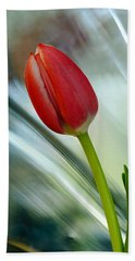 Abstract Tulip Under Glass Beach Towel
