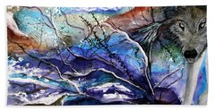Abstract Wolf Beach Sheet by Lil Taylor