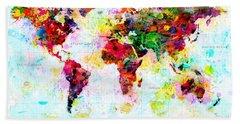 Abstract World Map Beach Sheet