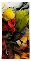 Abstraction 122614 Beach Towel by David Lane