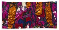 Abstracts 14 - The Deep Dark Woods Beach Towel by Mario Perron
