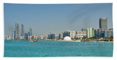 Abu Dhabi Skyline Beach Sheet by Steven Richman