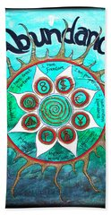 Abundance Money Magnet - Healing Art Beach Towel by Absinthe Art By Michelle LeAnn Scott