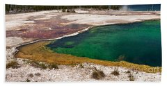 Beach Towel featuring the photograph Abyss Pool And Yellowstone Lake by Sue Smith