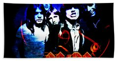 Ac/dc  Beach Towel by Absinthe Art By Michelle LeAnn Scott
