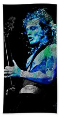 Ac/dc - Angus Young Beach Towel by Absinthe Art By Michelle LeAnn Scott