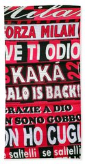 Ac Milan Fans Scarves  Beach Towel