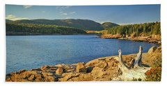 Beach Towel featuring the photograph Acadia Otter Cove by Alana Ranney