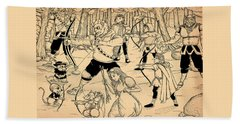 Beach Sheet featuring the painting Archery In Oxboar by Reynold Jay