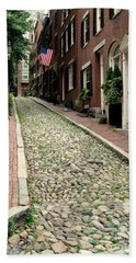 Acorn Street Boston Beach Sheet by Kenny Glotfelty