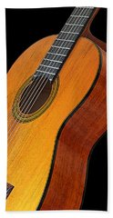 Acoustic Guitar Beach Towel