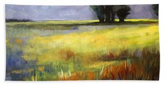 Across The Field Beach Sheet by Nancy Merkle