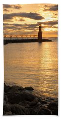 Across The Harbor Beach Towel by Bill Pevlor